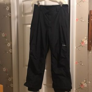 Llbean women's snow pants in black, like new!